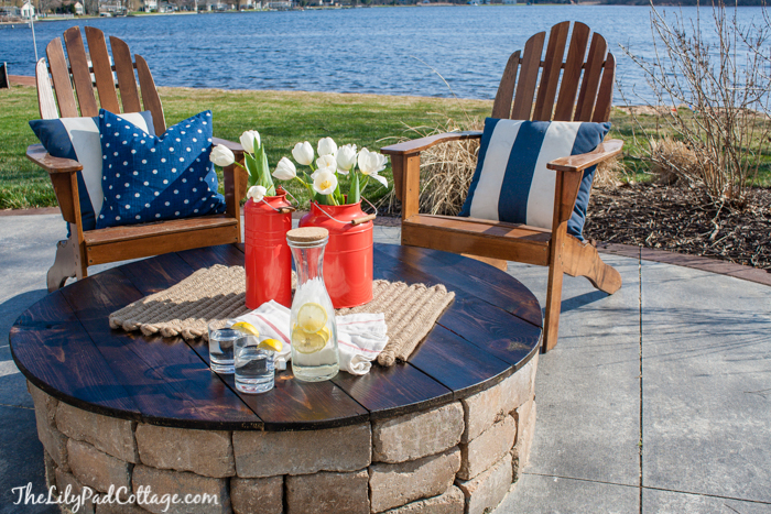 Outdoor Fire Pit Table Top Tutorial