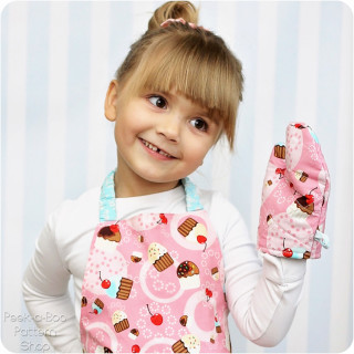 Tiny Chef Free Toddler Apron & Oven Mitt Pattern
