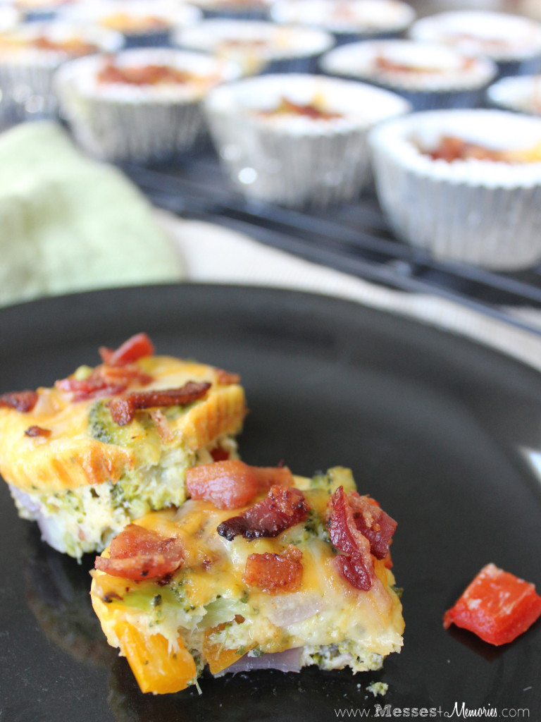 Egg, Bacon and Veggie Muffins