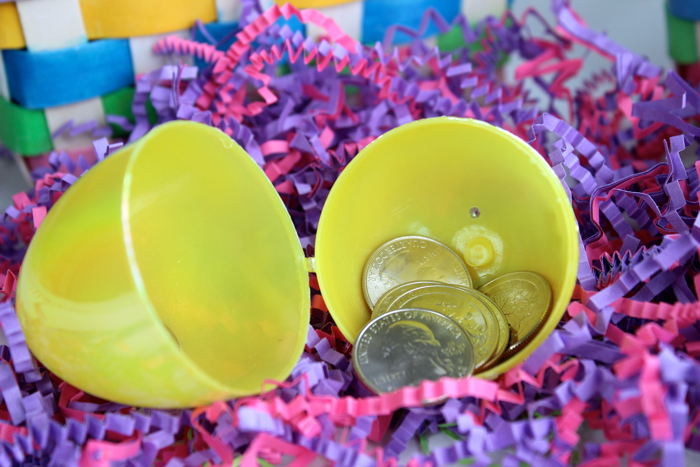 Money for Easter Egg Fillers