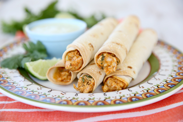 Make these delish taquitos ahead of time and pop them in the oven for a super fast meal.