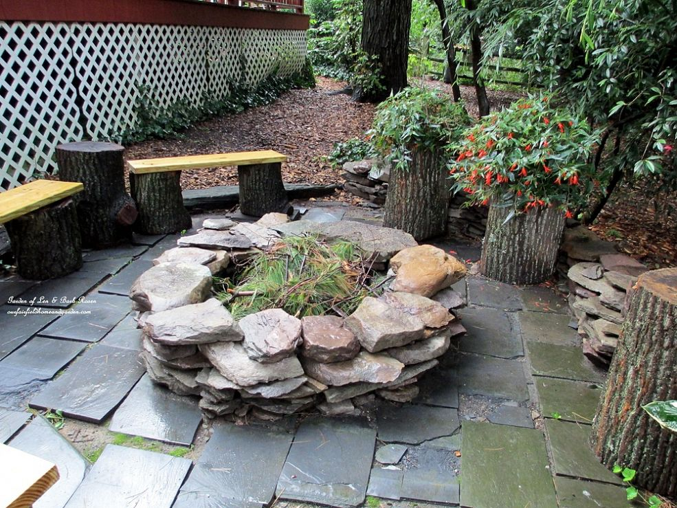 Overlaid Stone Fire Pit Tutorial