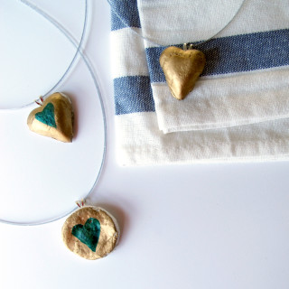 DIY Clay Heart Necklace