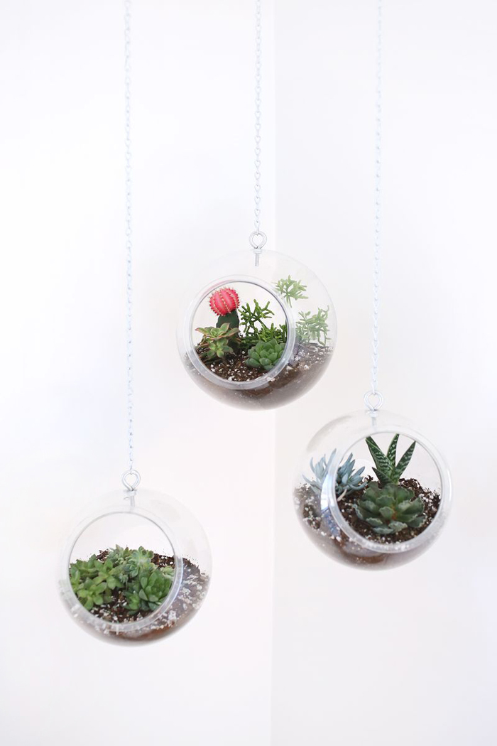 tutorial for modern plant hangers (using a fish bowl!) - 24 Ways To Hang Plants On The Wall - Andrea's Notebook