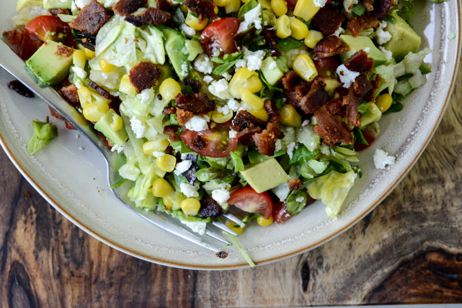 BLT in salad form...a perfectly delicious quick and easy dinner.