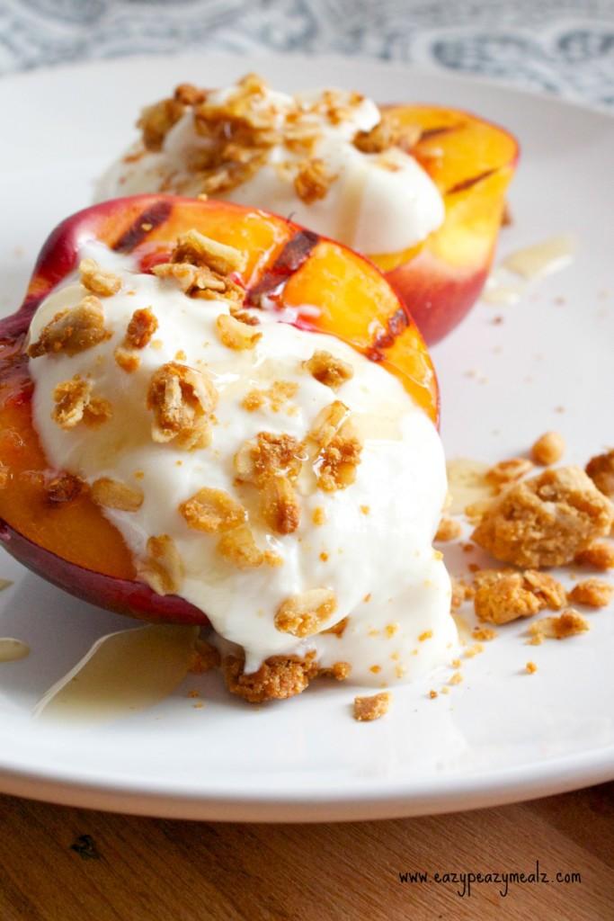 Easy Grilled Breakfast Nectarine