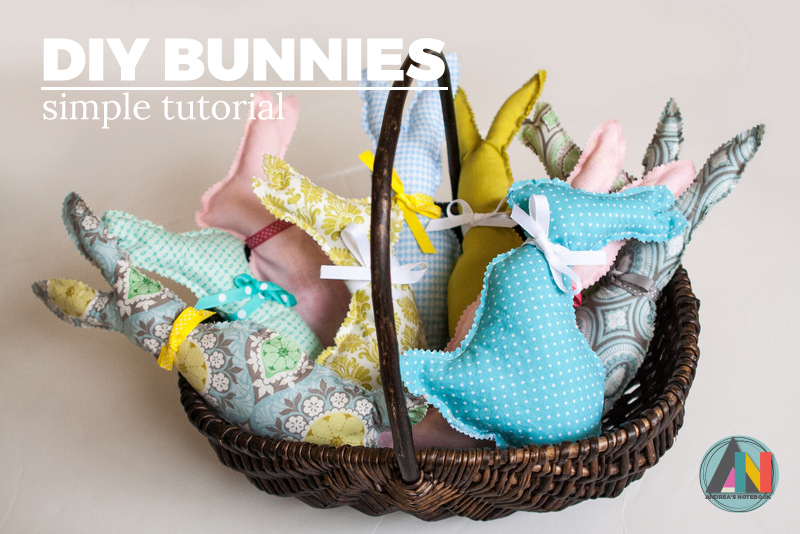 Make these quick and easy bunny pillows for Easter!