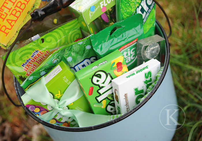 Green Themed Easter Basket for Teens