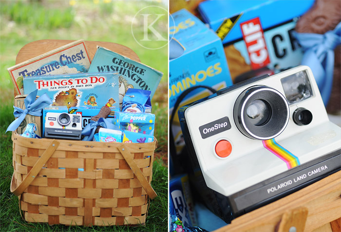 Blue Picnic Themed Easter Basket