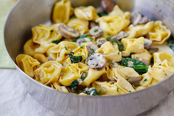 Packaged tortellini makes this elegant pasta dish so easy to whip together!