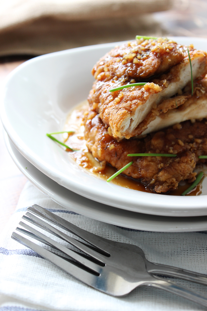 Crispy, sweet and savory...serve this chicken with rice for a quick and delicious dinner.