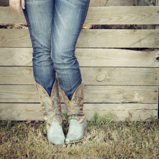 DIY Turquoise Boots