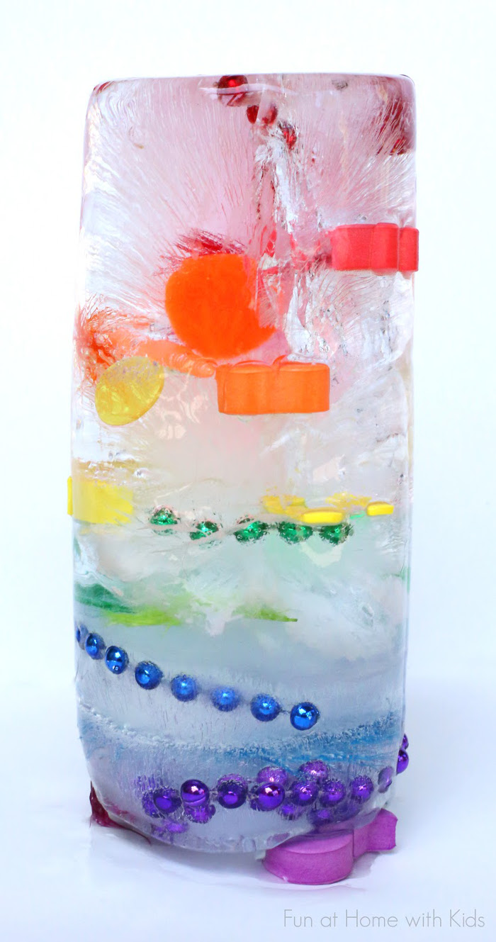 experiments ice activities science rainbow tower experiment fun excavation outdoor easy senses five water cool project activity handmadecharlotte many things