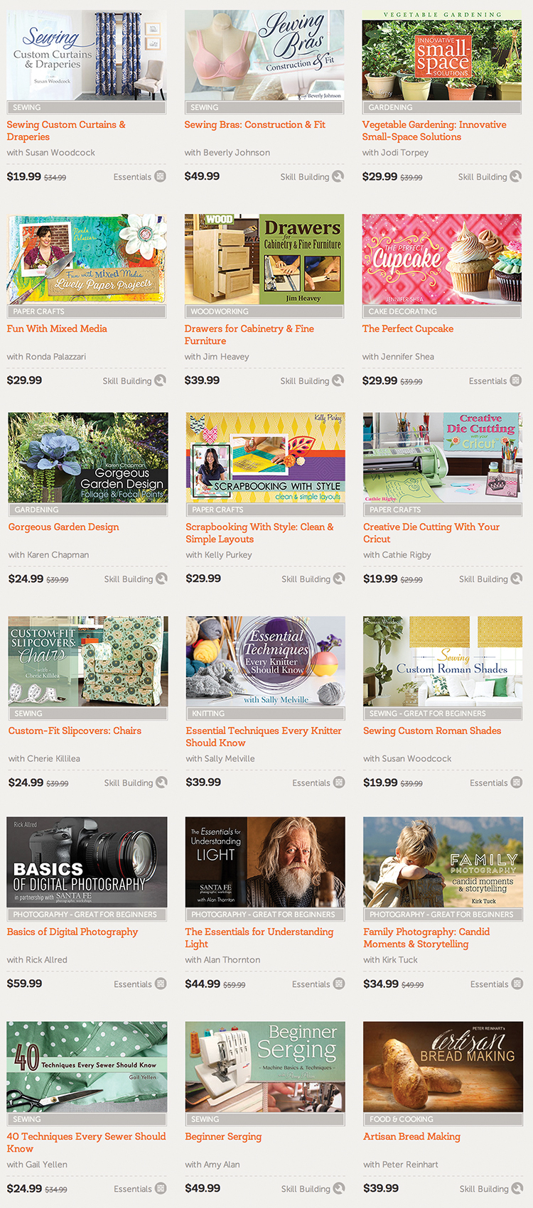 Free Craftsy class when you buy the Ultimate DIY Bundle