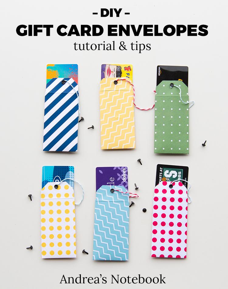 DIY gift card envelope tutorial