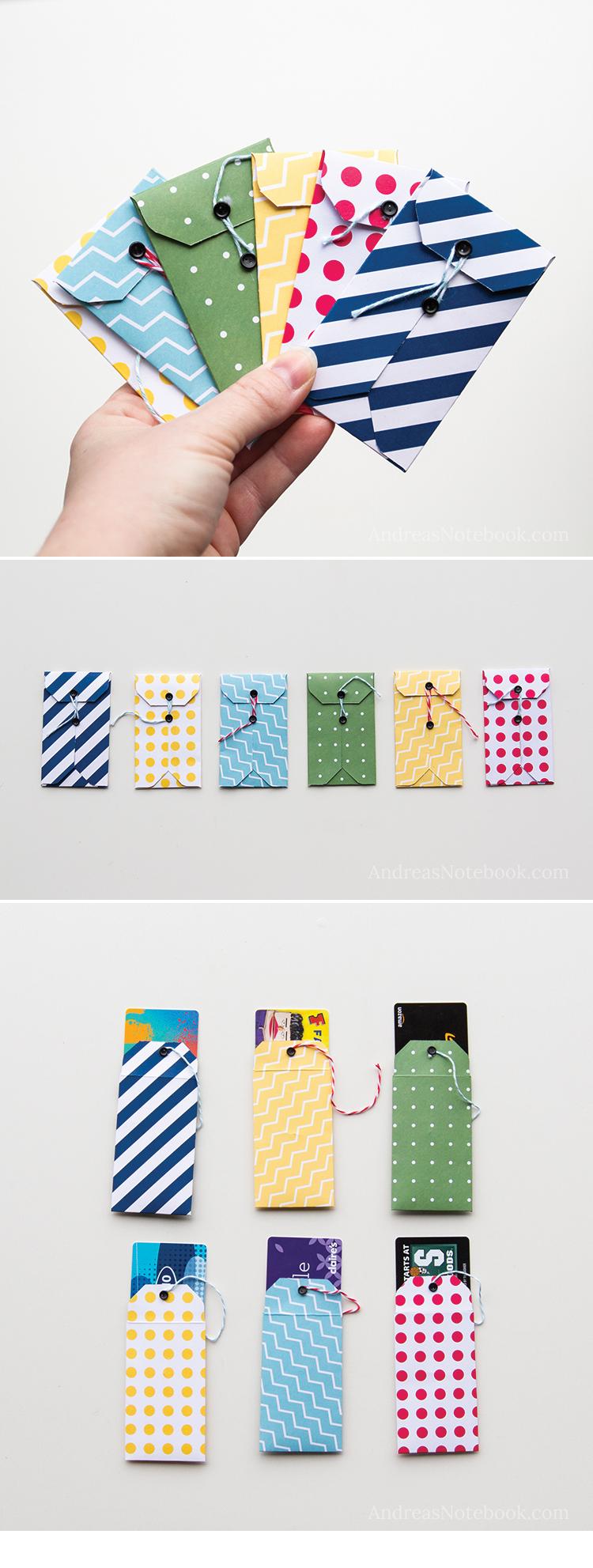 DIY gift card holder tutorials - AndreasNotebook.com