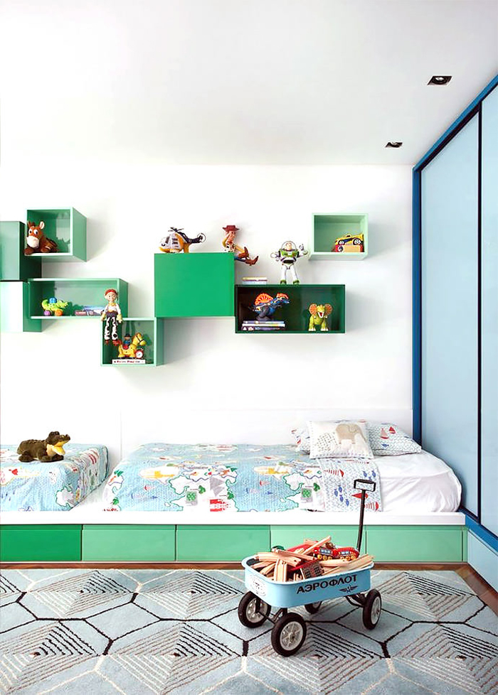 shared boys room with room for toys