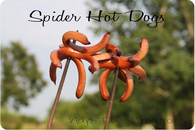 Create spider shaped hot dogs!