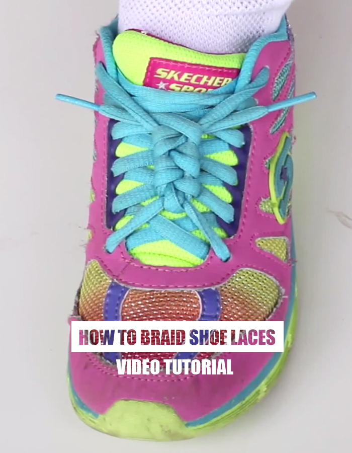How to braid shoe laces - video
