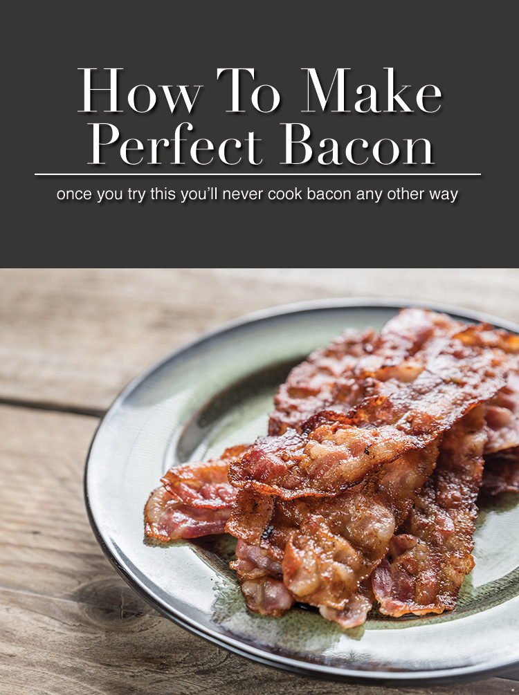 This. Is. Amazing. I'm never cooking bacon any other way ever again. This is the best way to cook bacon.