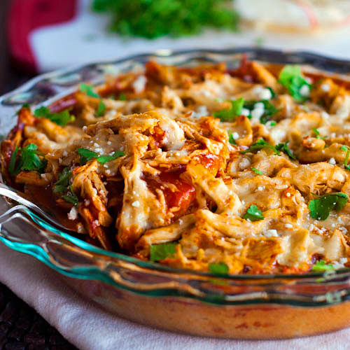 All the flavor of tamales in a quick and easy casserole.