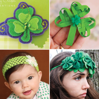 24 St. Patrick's Day Hair Accessory Tutorials