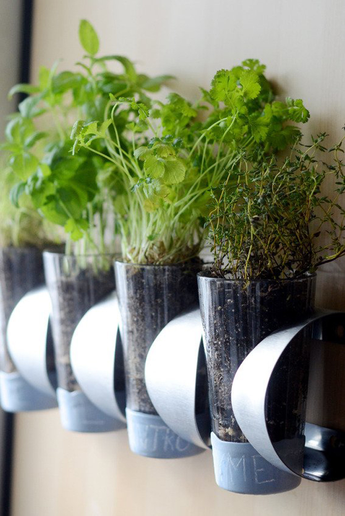 Wine Holder Turned Herb Garden Ikea Hack