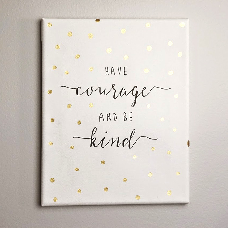 VIDEO TUTORIAL: how to make a quote canvas
