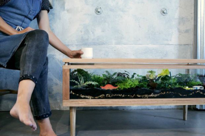 DIY Terrarium Table