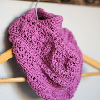 Textured Crochet Infinity Scarf