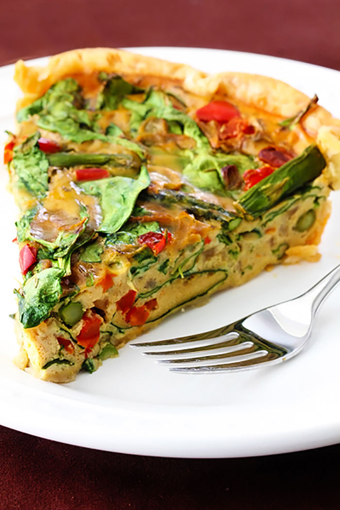 Dairy Free Vegetable Quiche Recipe