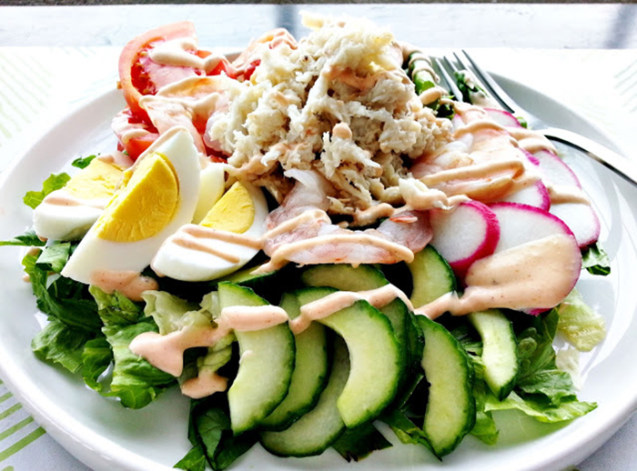 Shrimp and crab louie salad recipe