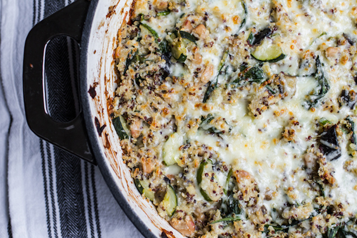 Cheesy Quinoa One-Pan Vegetarian Casserole