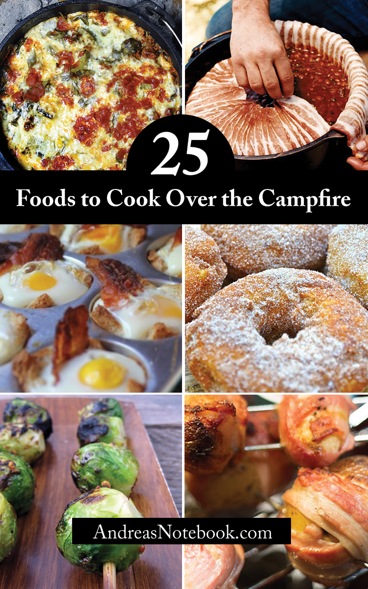 25 foods to cook over the campfire