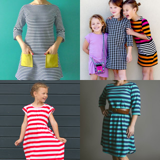 T-Shirt Dress Patterns for Girls and Women