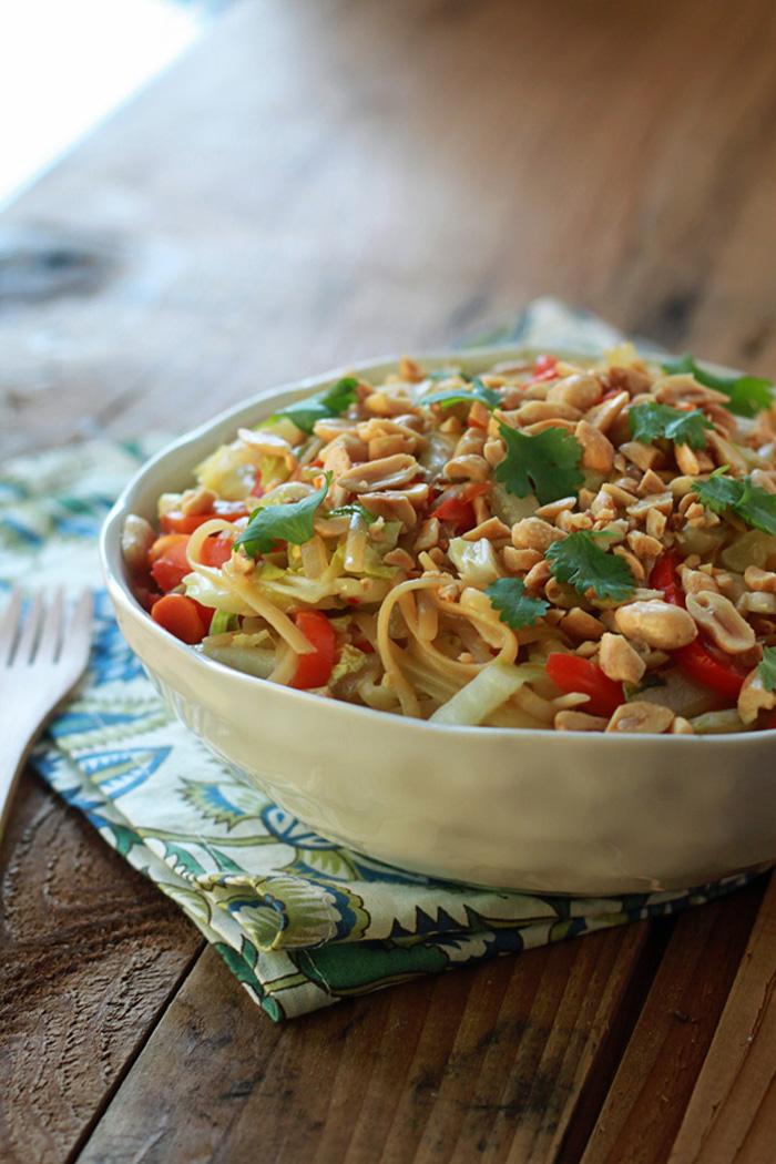 One Pot Peanut Sesame Noodles with Veggies