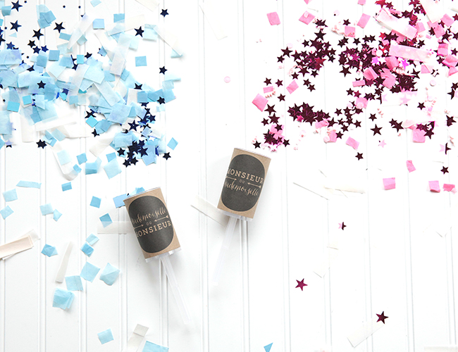 Adorable confetti poppers with free printables
