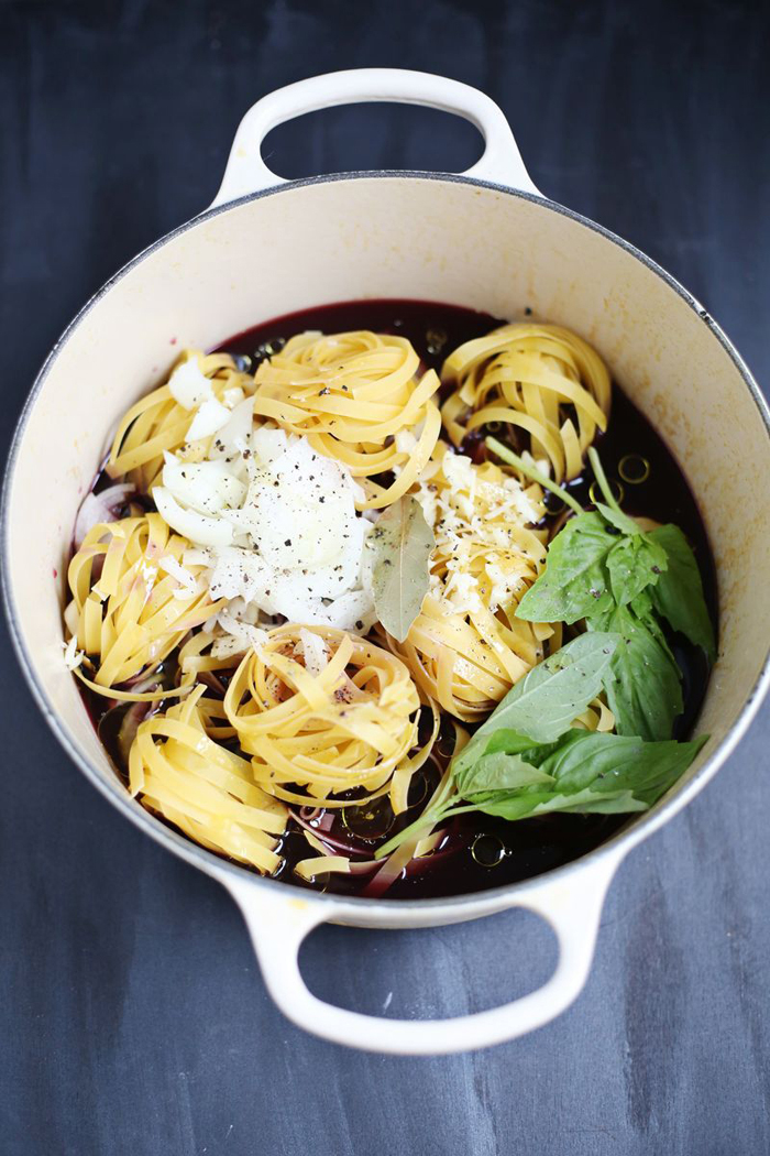 One-Pot Red Wine Pasta