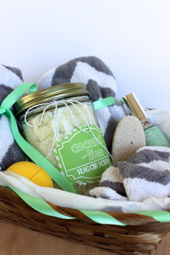 Coconut Lime Sugar Scrub Gift Basket