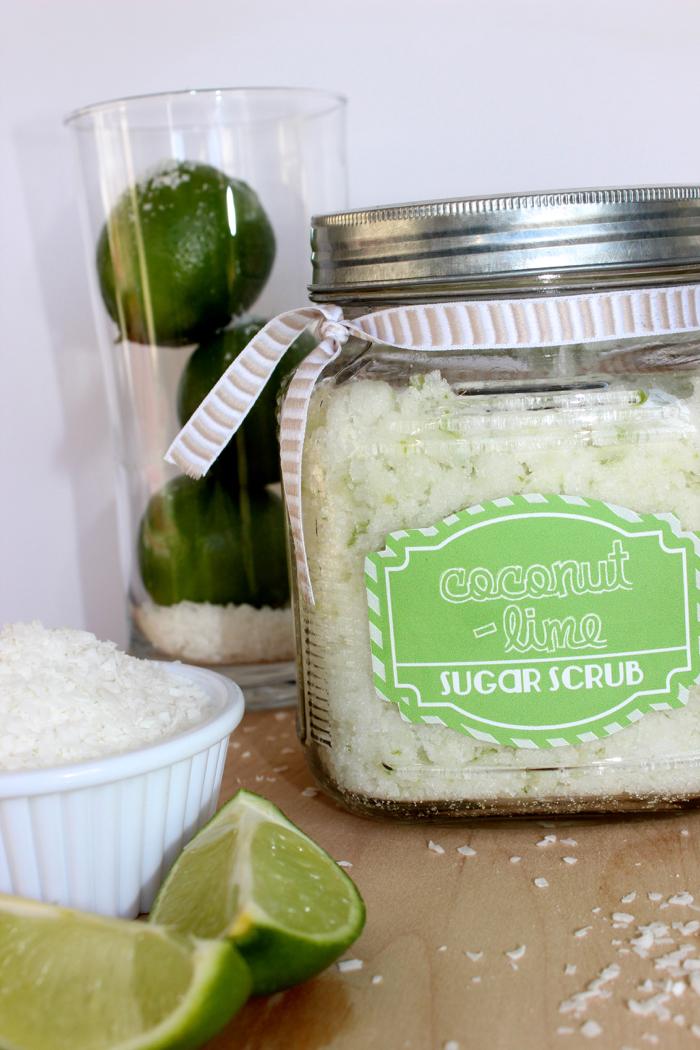 Coconut Lime Sugar Scrub Recipe
