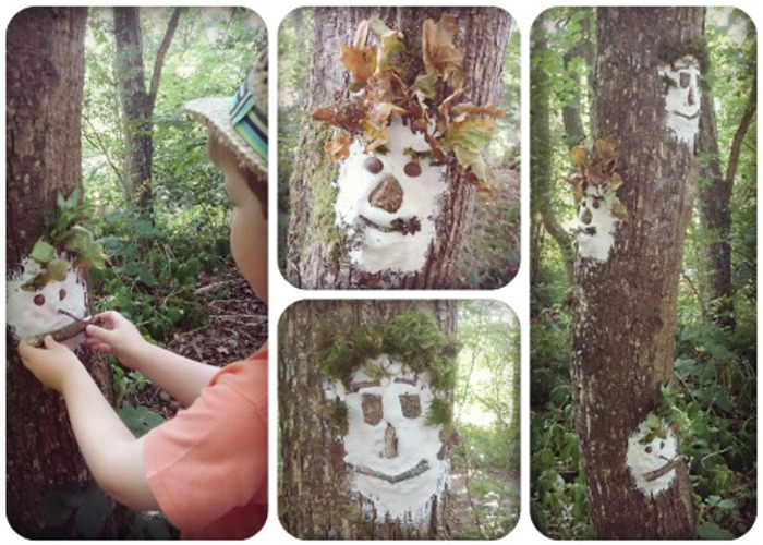 Forest Faces Outdoor Crafts