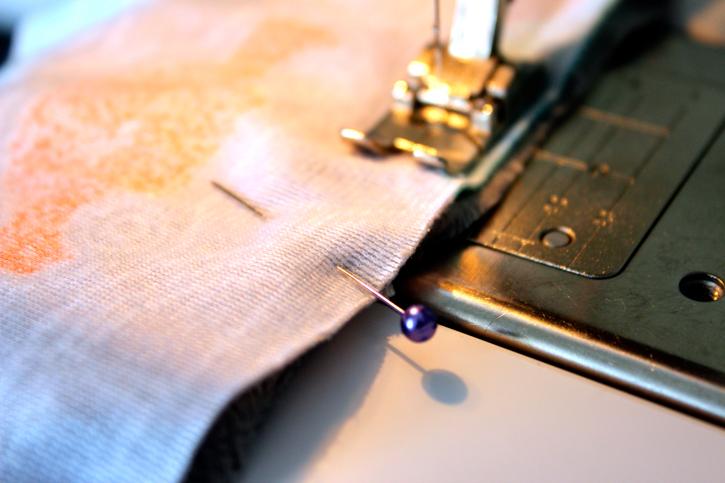 Sew edges leaving ½ inch seam  for Minky Baby Blanket Tutorial