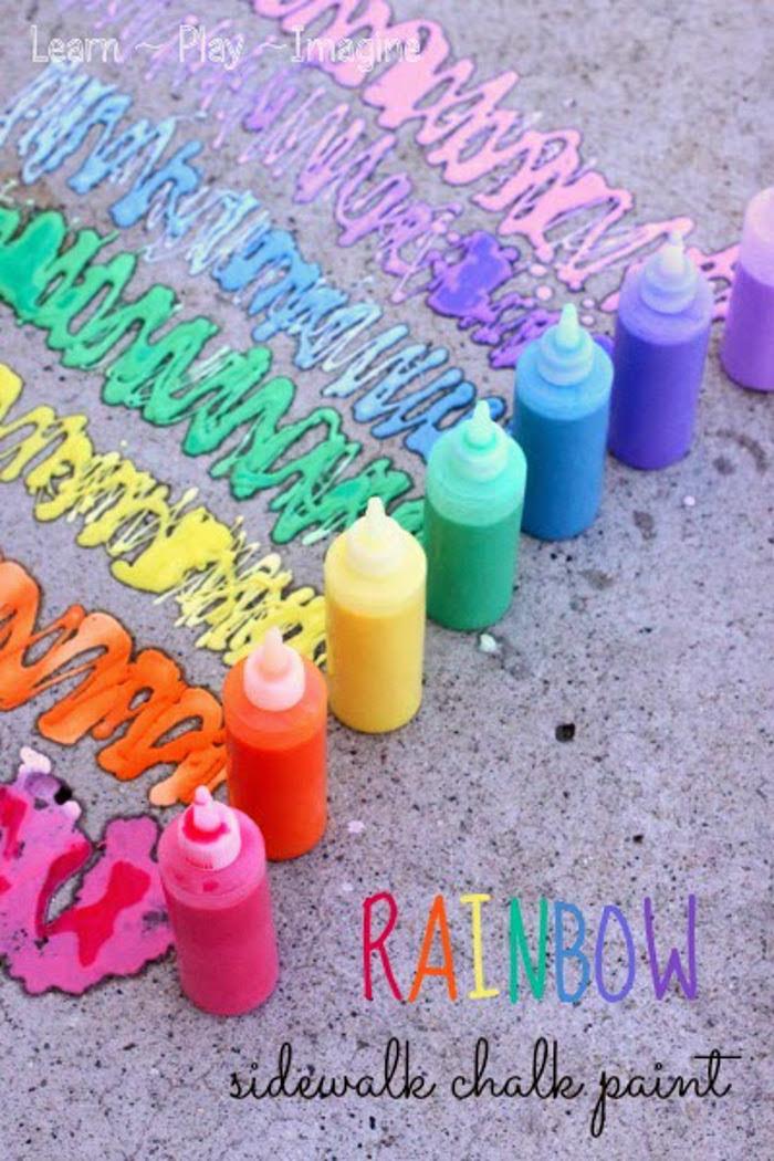 Erupting Sidewalk Chalk Paint