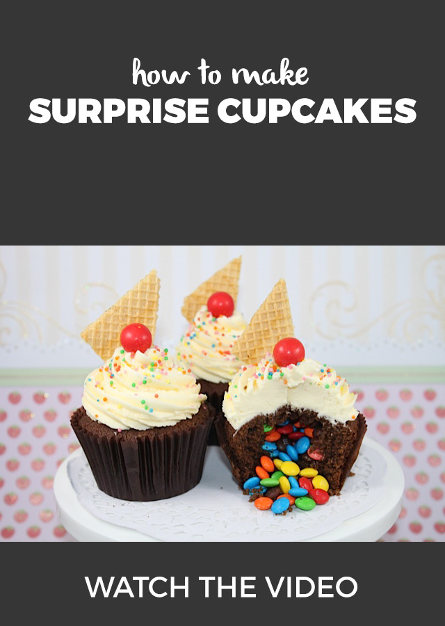 VIDEO: How to make surprise cupcakes