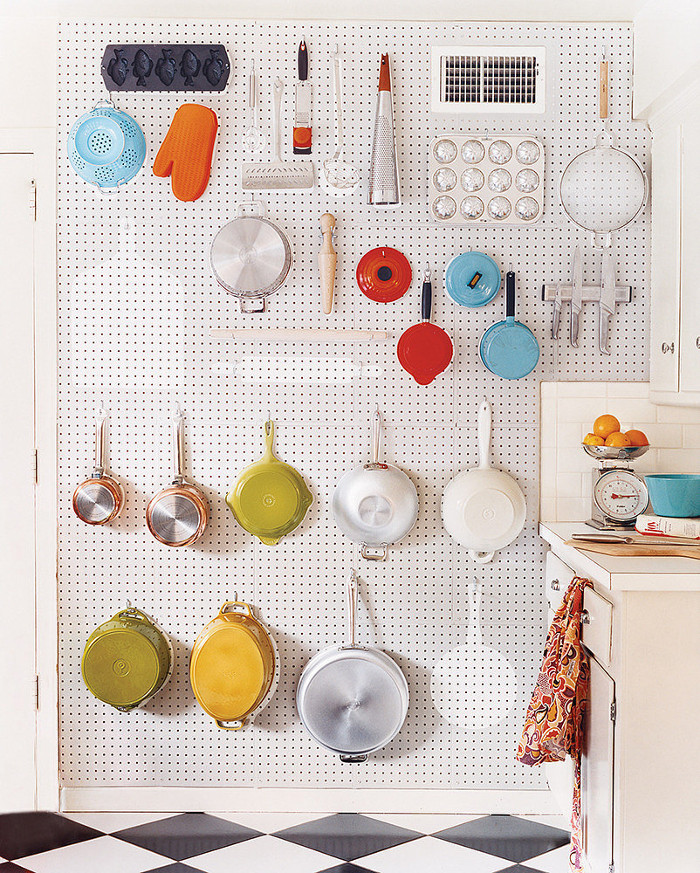 Pegboard Hanging Utensils and Pots