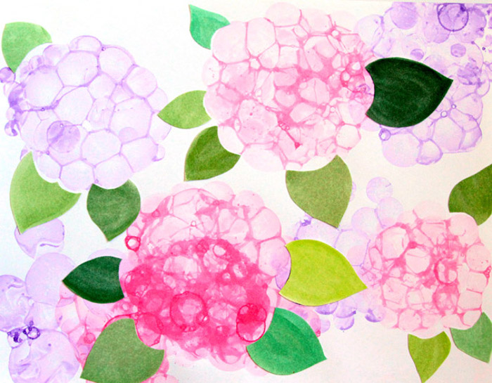 Bubble Art Flowers
