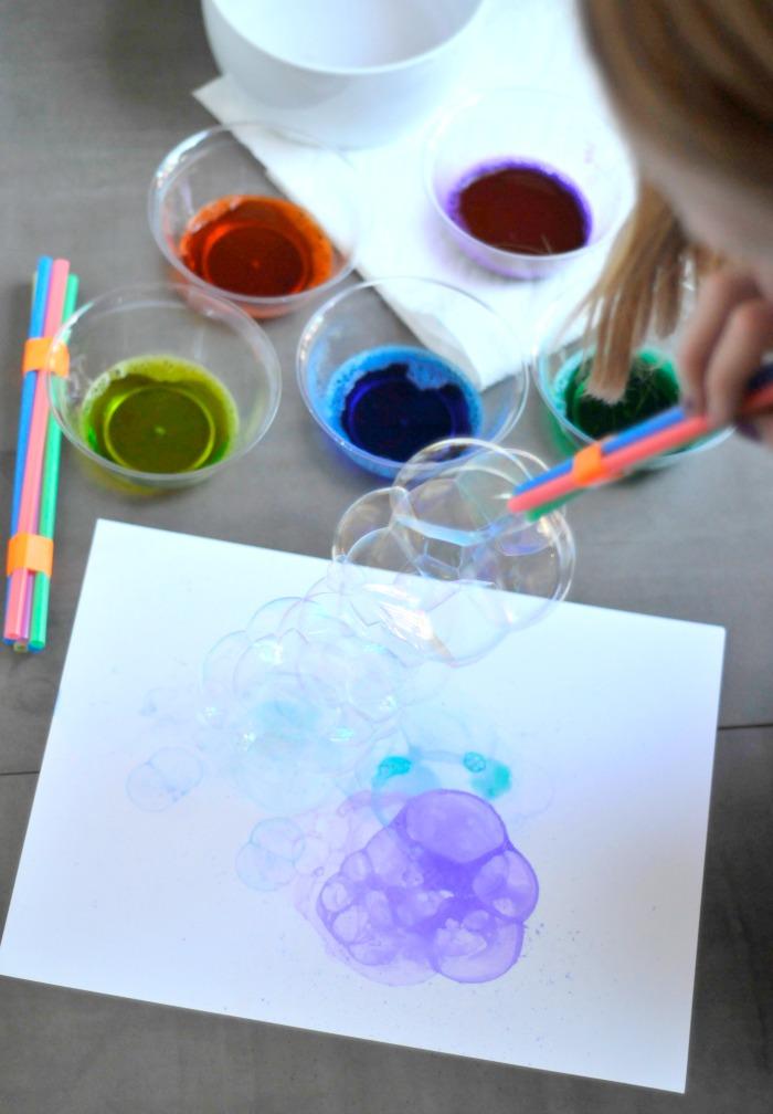 Blowing Bubbles Paint