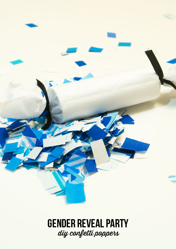 Make your own confetti poppers to announce baby gender