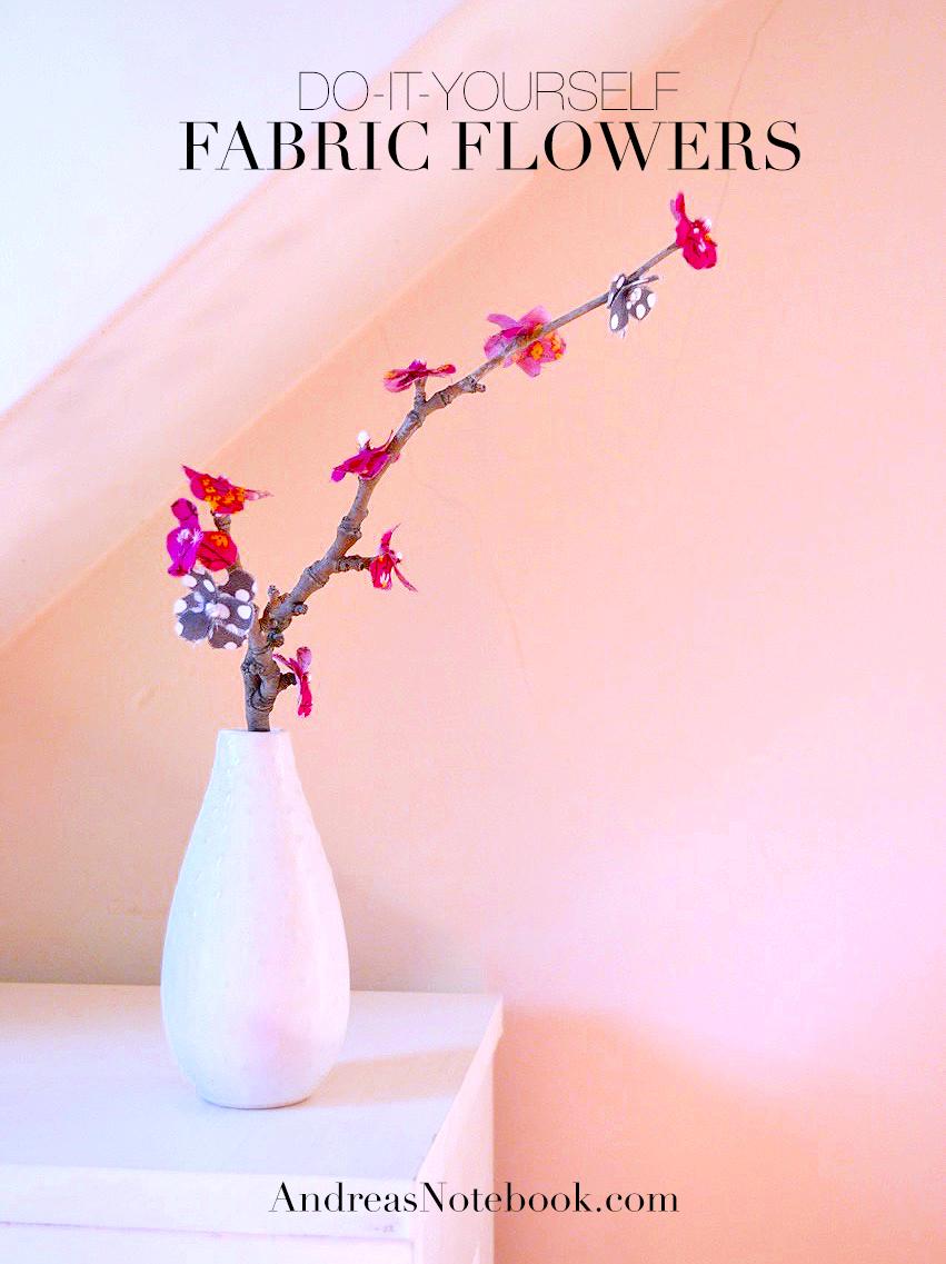 DIY fabric flowers tutorial