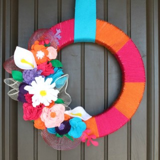 Bright Floral Wreath